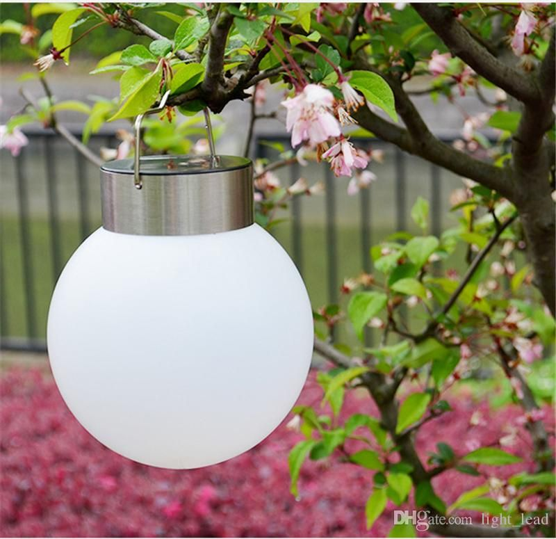 Best Solar Powered Hanging Lights Ball Shape White Outdoor Solar