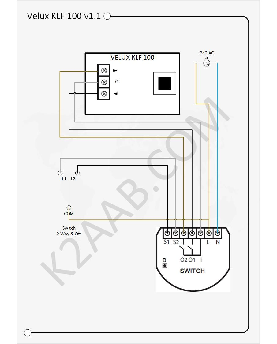 velux electric windows come with their own remote control device rh pinterest com RJ45 Wiring -Diagram Doorbell Wiring