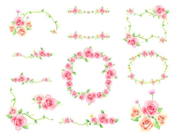 Coral Flower Border Clipart Embroidery Pinterest Clip art - microsoft border templates free