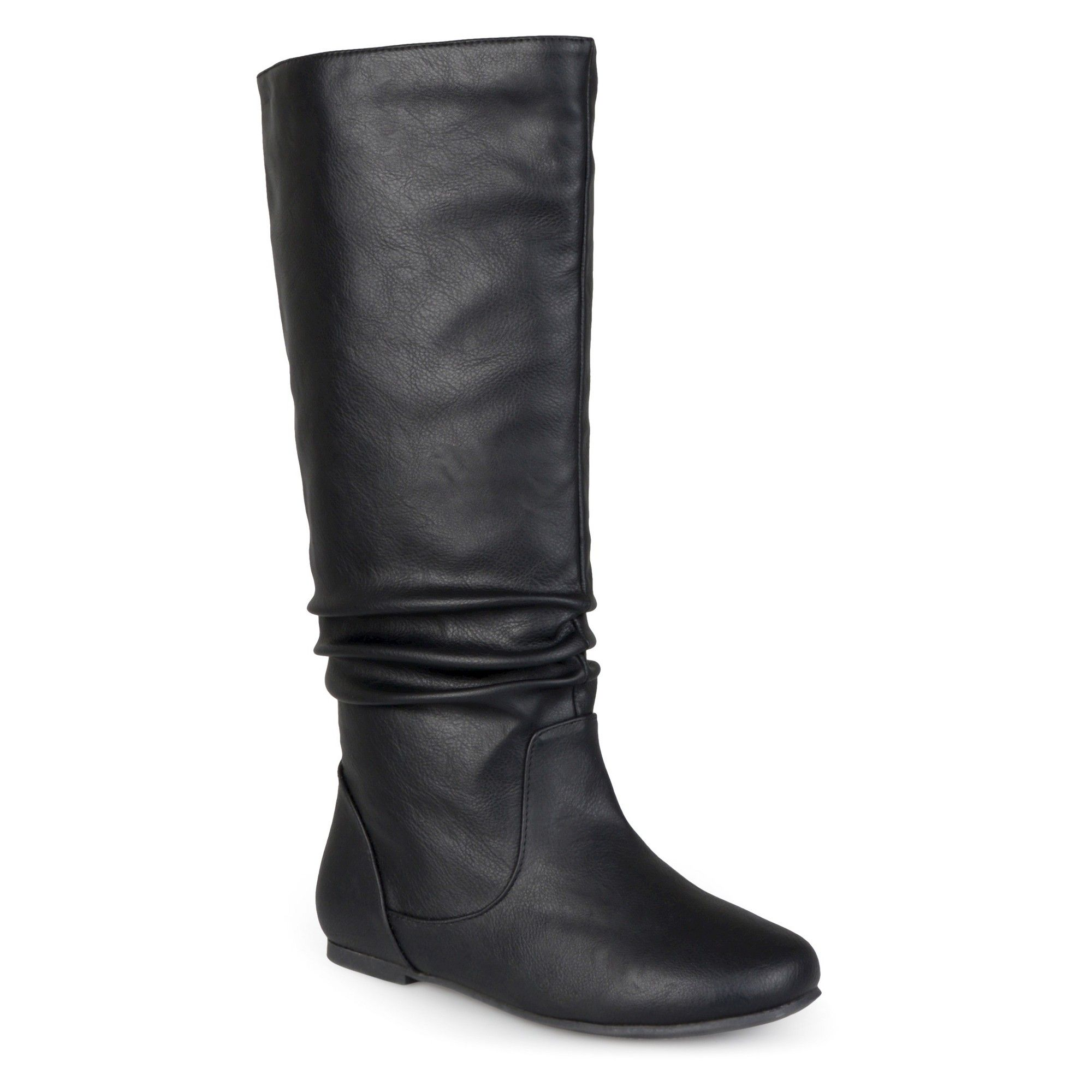 a15143b3d89 Women s Journee Collection Extra Wide Calf Mid-Calf Slouch Riding Boots -  Black 7.5 Extra Wide Calf