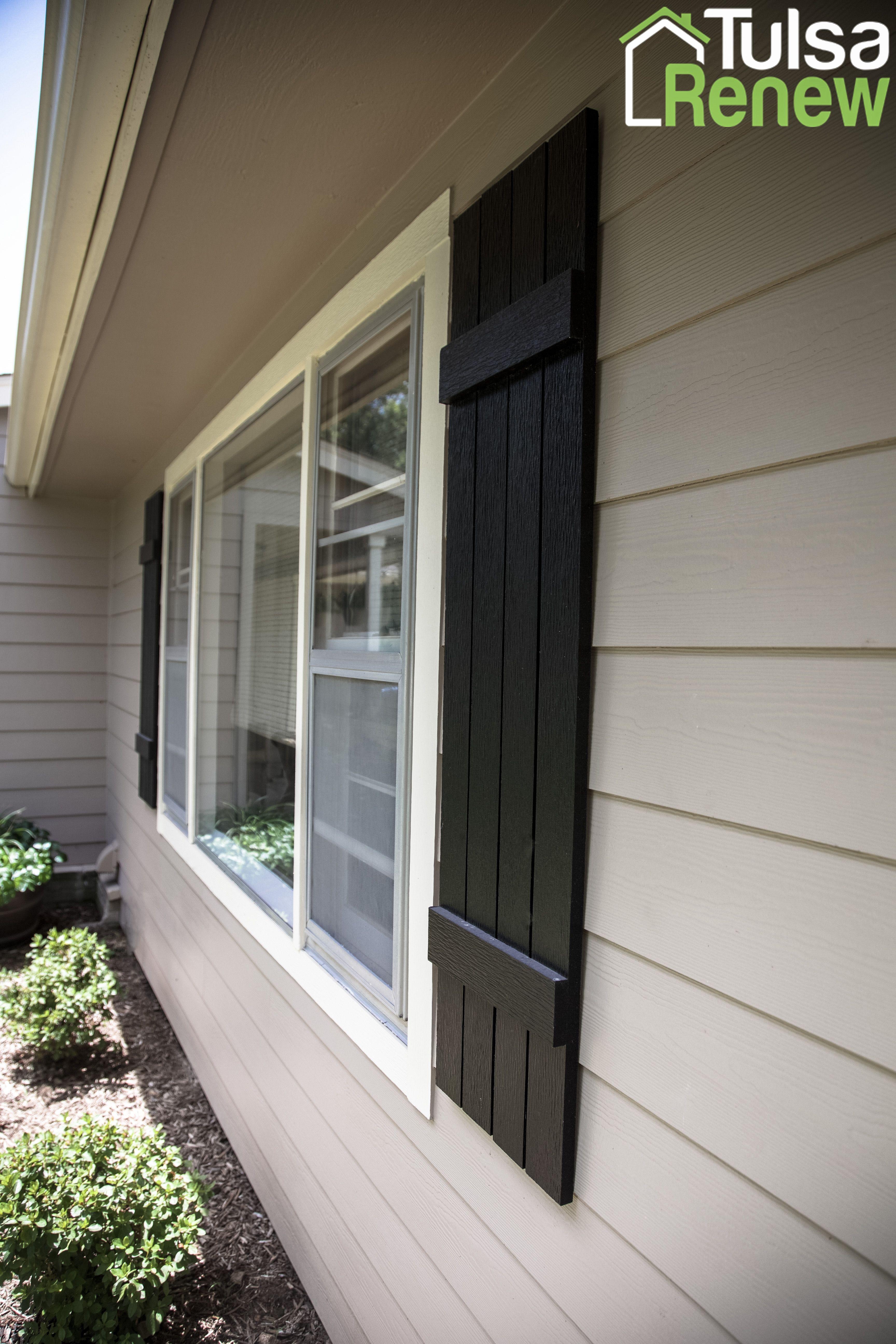 james hardie shutters with sherwin williams tricorn black accents tulsarenew details design. Black Bedroom Furniture Sets. Home Design Ideas