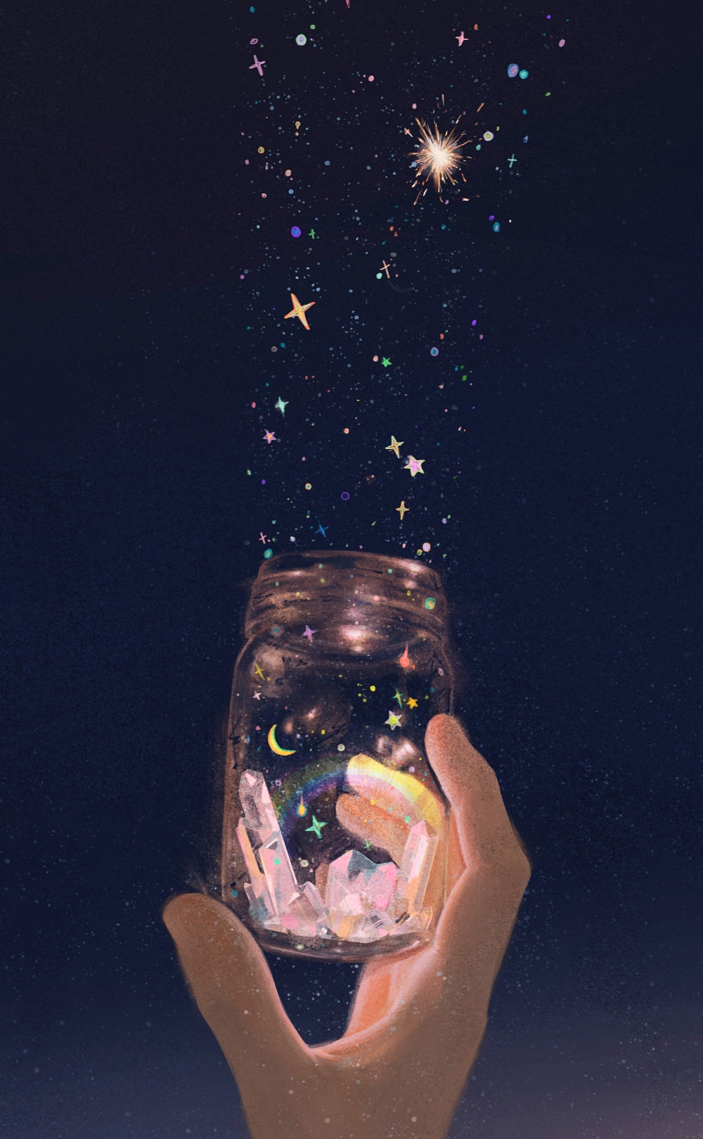 星星永远不会被黑暗吞噬 插画 创作习作 中下游         - 原创作品