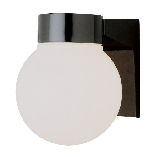 Trans Global Lighting Pl 4800 Bk Energy Efficient 1 Light Wall Outdoor 6 In