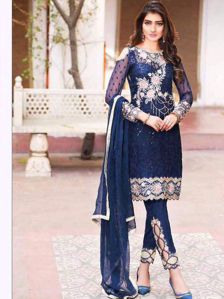 9651d5186e new party wear suit indian ethnic bollywood inspired party wear embroidered  | eBay