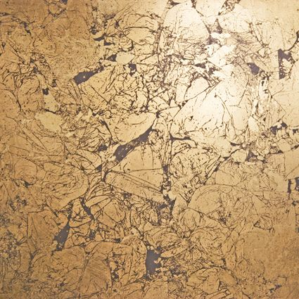 Shabin Goldleaf on Venetian Plaster from Superstrata | Patina and ...