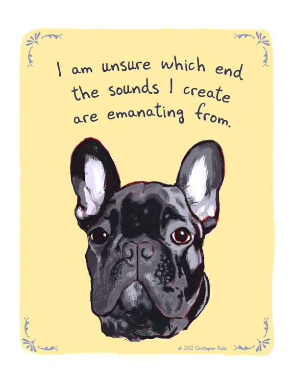 Black Frenchie 5x7 Print Of Original Painting With Phrase French