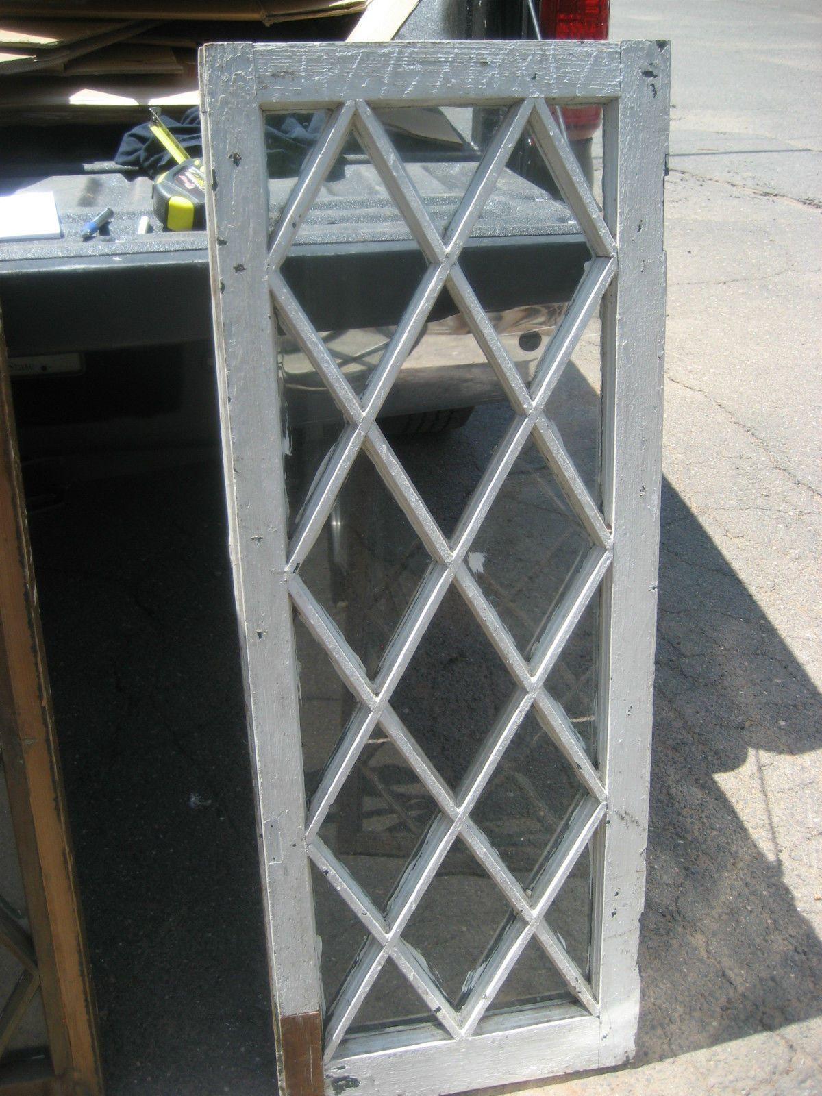 Tudor Windows antique c1900 mission style tudor diamond pane window door frame