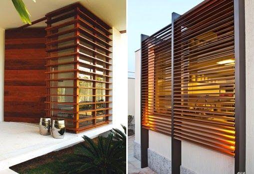 casas e fachadas com brises ou brise soleil casas pinterest fachadas ripado e gradinhas. Black Bedroom Furniture Sets. Home Design Ideas