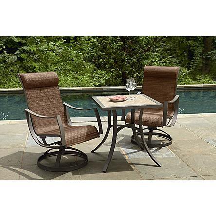 Ty Pennington Style Palmetto 3pc Bistro Set Outdoor Furniture Furniture Outdoor Furniture Sets