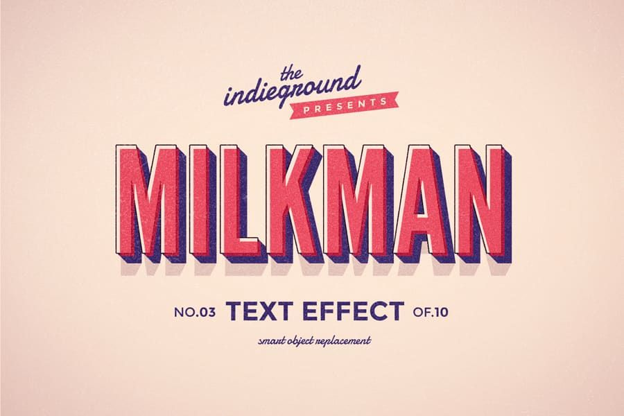 Retro Vintage Text Effect N 03 Indieground Design In 2020 Retro Text Vintage Text Text Effects