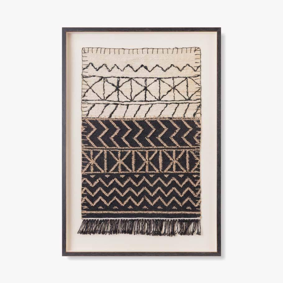 Mali Framed Textile Art Eclectic Goods Framed Fabric Wall Art Textile Wall Art Woven Wall Art