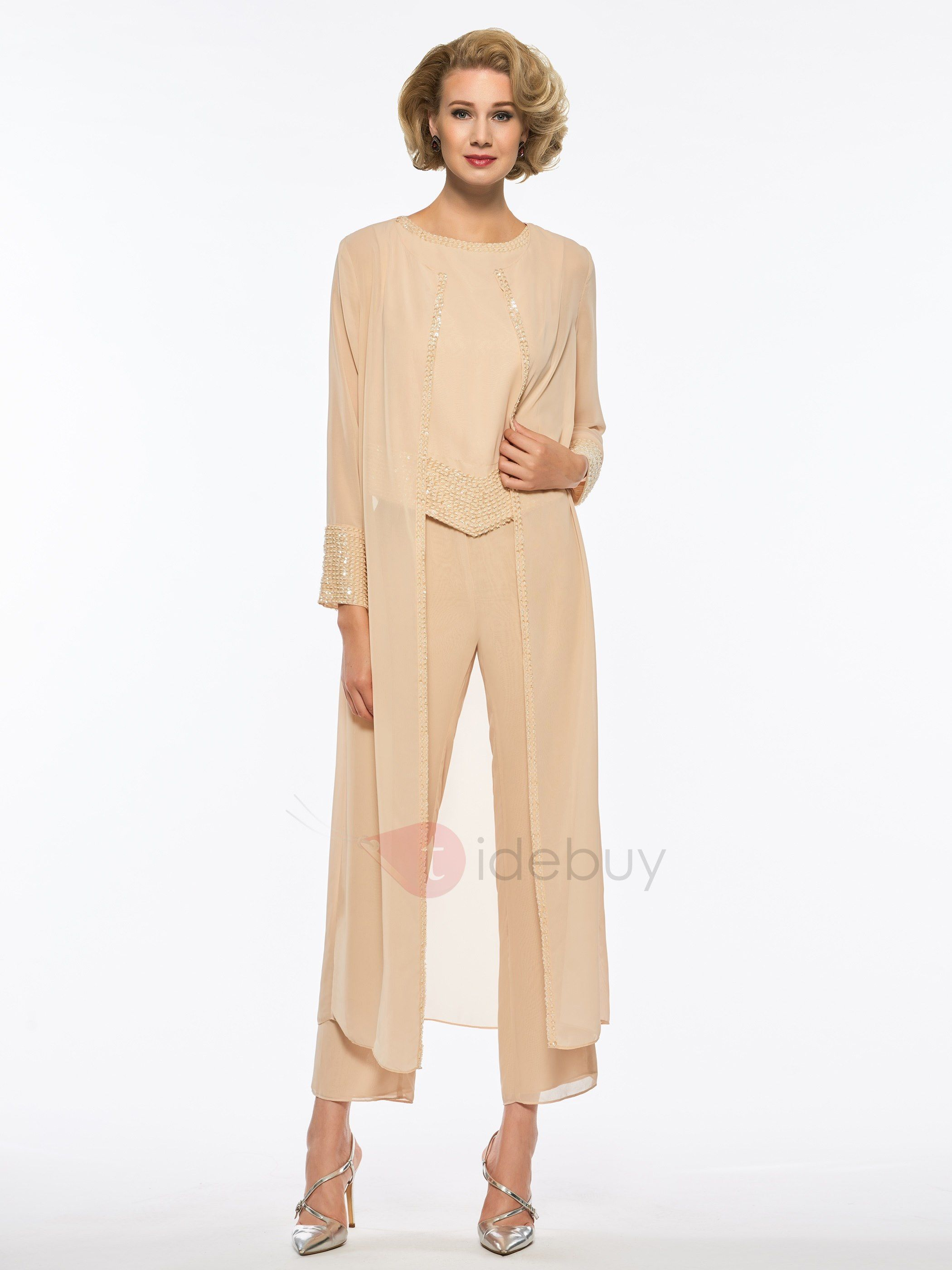 56a01f9395d1 Tidebuy.com Offers High Quality Superior Beaded Scoop Neck Mother of the  Bride Jumpsuit with Jacket
