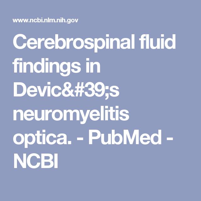 Cerebrospinal fluid findings in Devic's neuromyelitis optica. - PubMed - NCBI