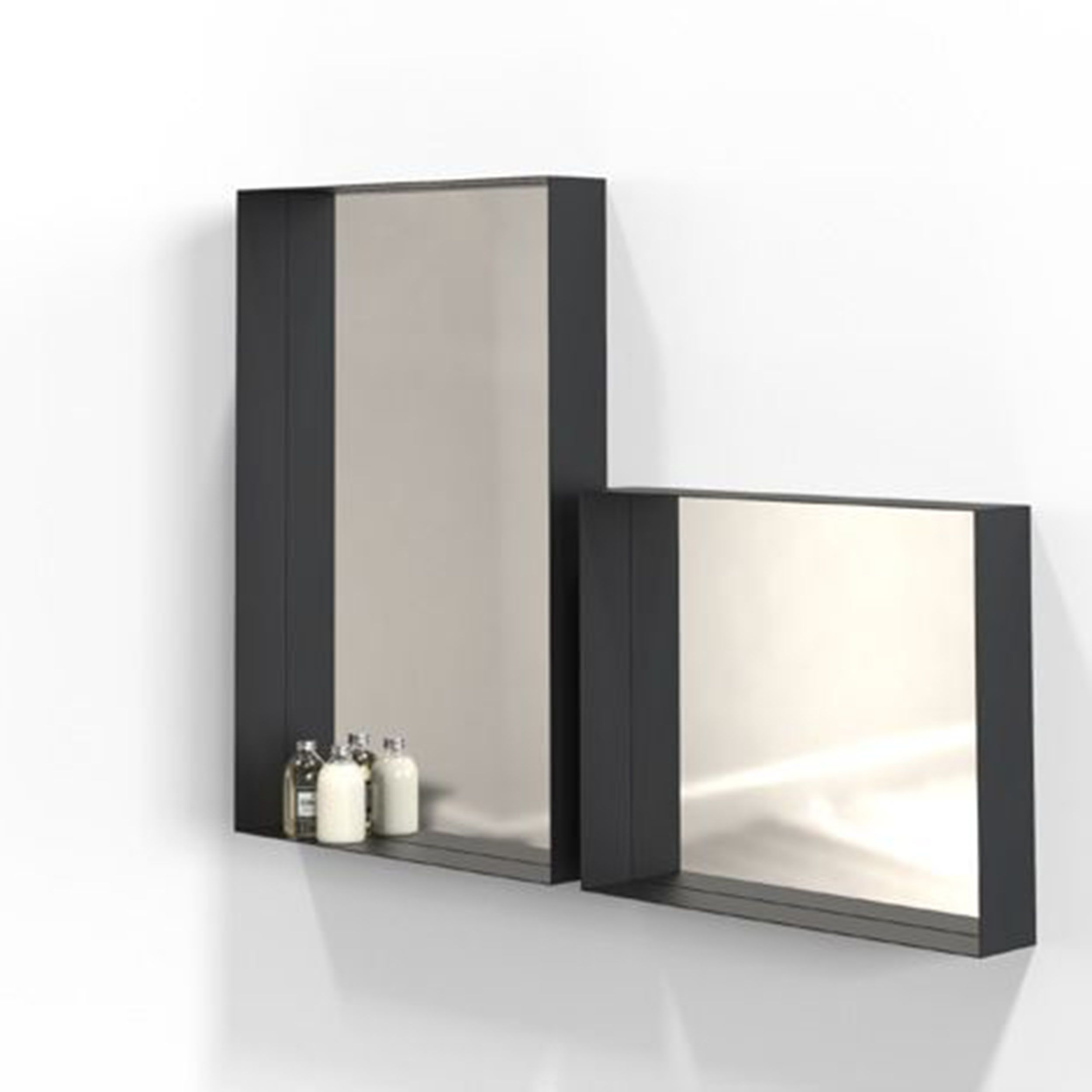 Unu Spiegel Mit Rahmen 50 Schwarz A050419 001 Spiegel Gaste