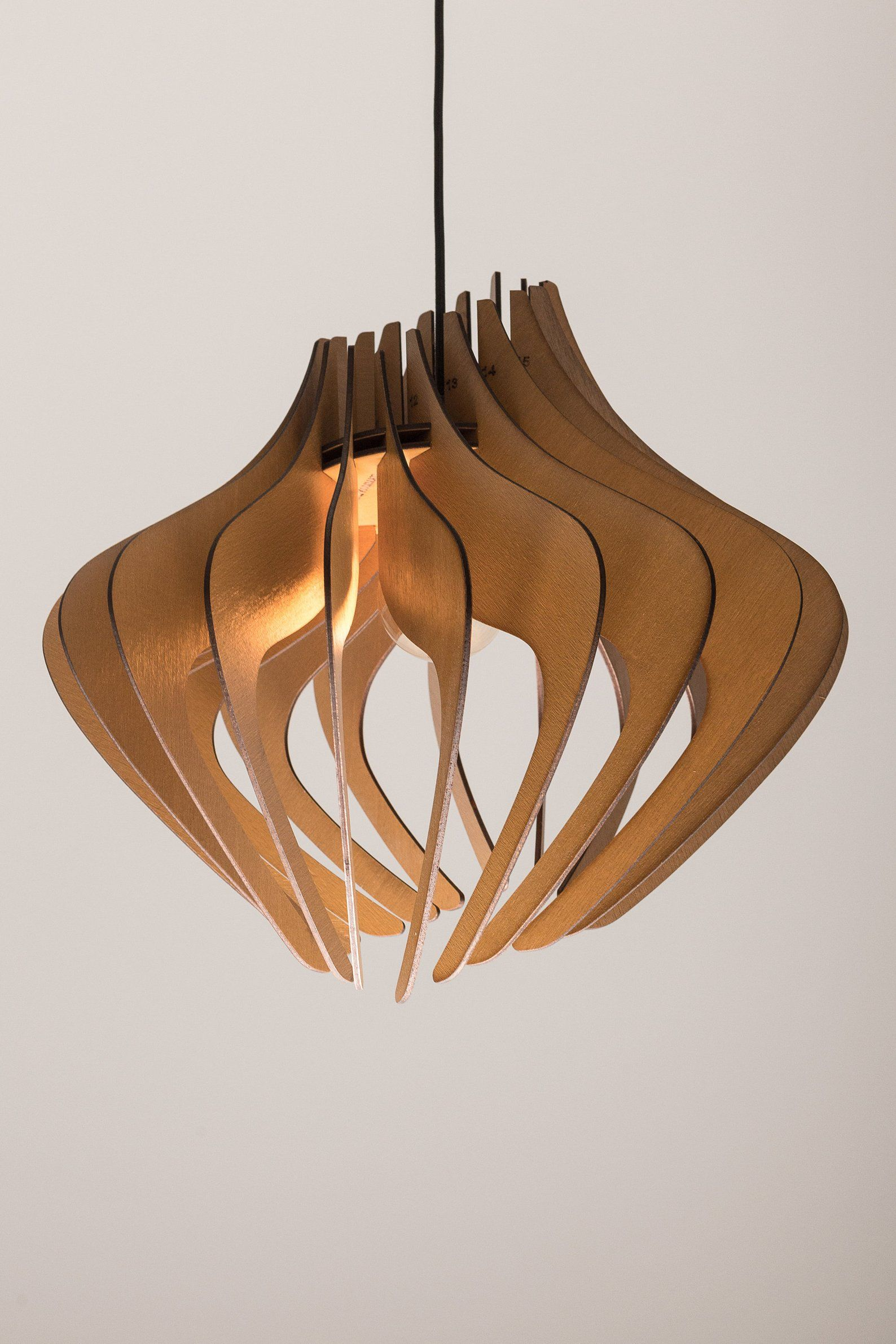 Wood Pendant Light Modern Chandelier