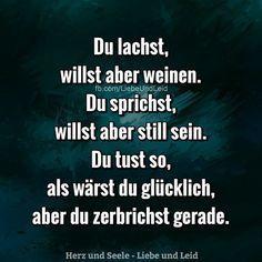 Du lachst willst aber weinen #quotes #poetry