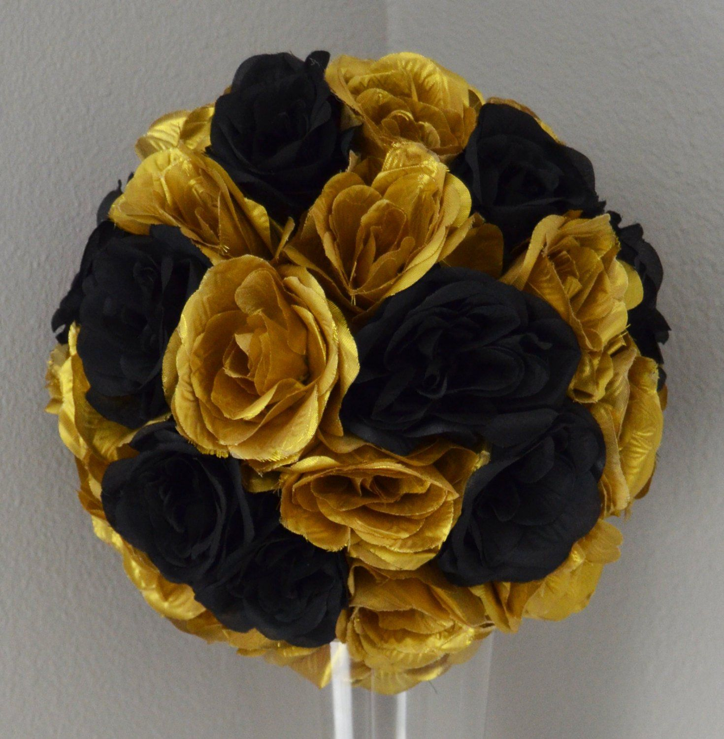 Black And Gold Flower Ball Gold And Black Wedding Centerpiece