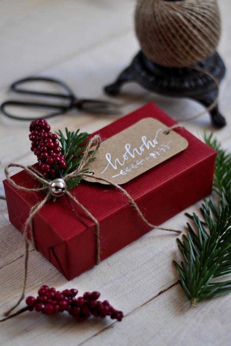 Geschenke verpacken zu Weihnachten #christmasgiftideas