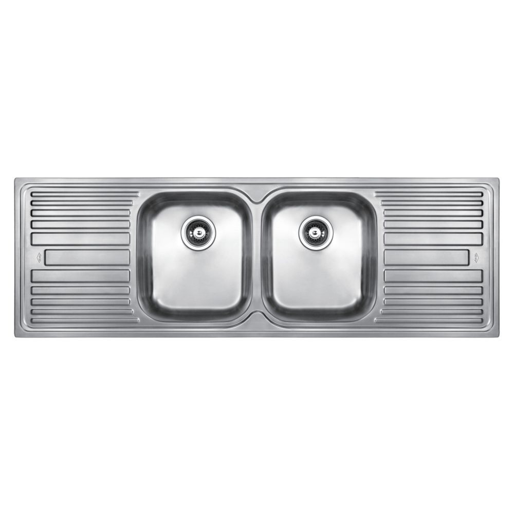 Kitchen Sinks Double Bowl And Drainer