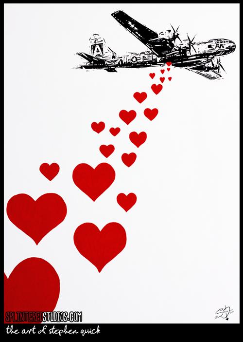 Love War Satire Painting Art Satire Online Art