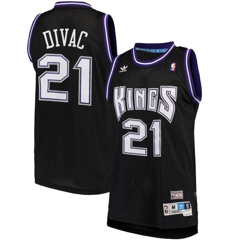 huge selection of 6b54f 245c6 Vlade Divac Sacramento Kings adidas Hardwood Classics Road ...