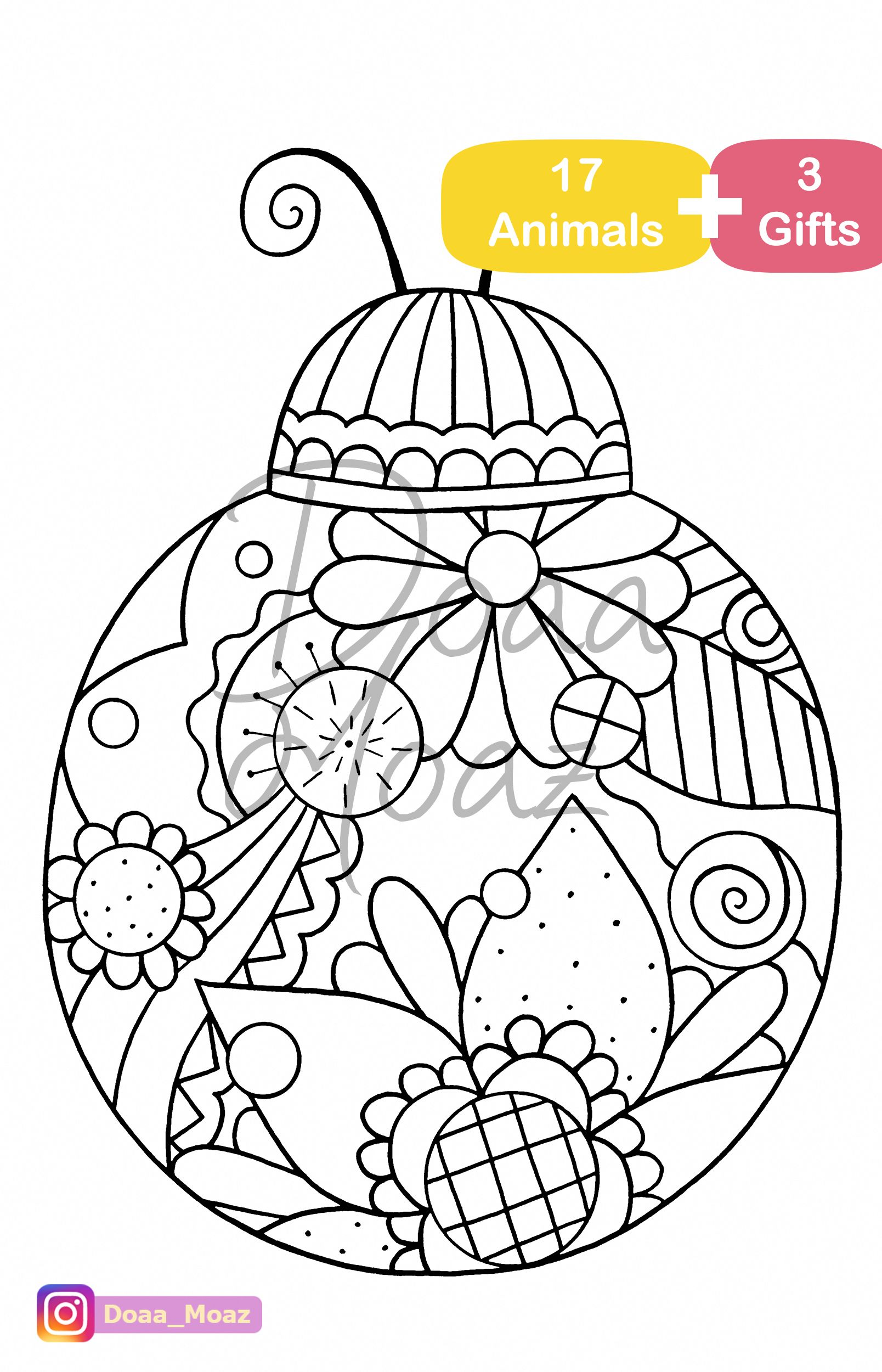 Adult coloring book 17 Animals coloring pages pdf ...