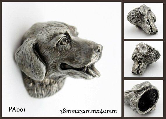 Pewter Dresser Knobs Cabinet Pull Handles Dog Animal By Jade4wood