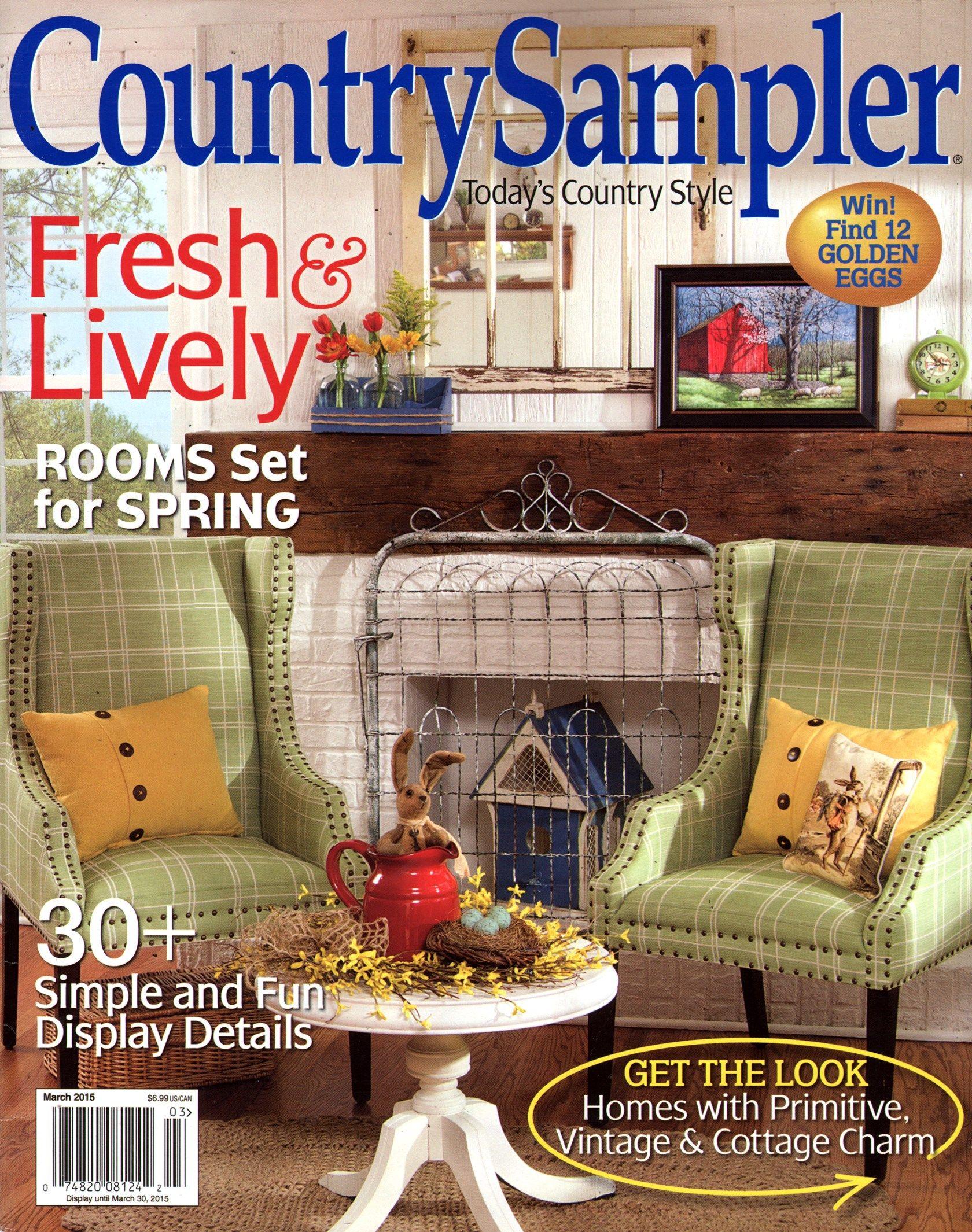 Country Sampler Cover for 3/1/2015 Country sampler