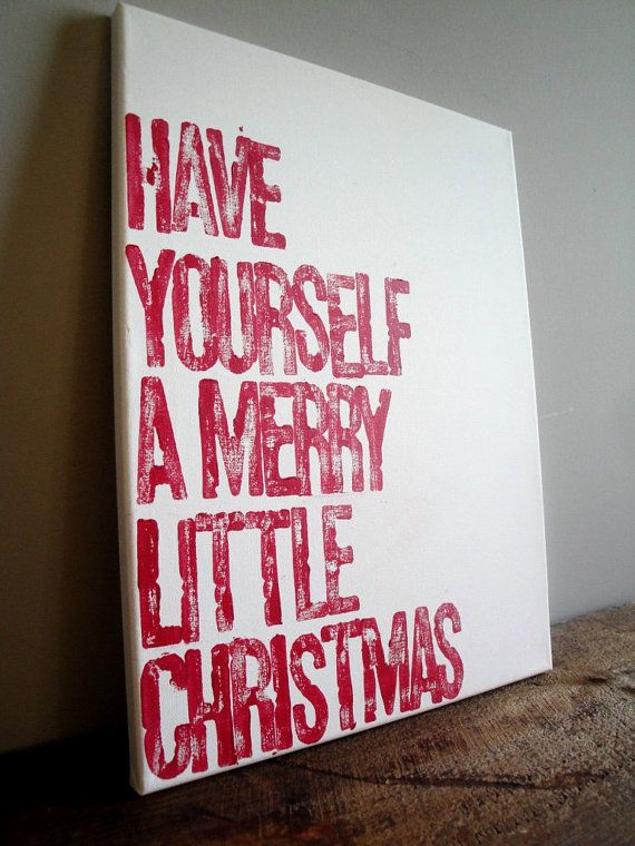 Have yourself a merry little christmas 12x16 canvas holiday sign 30 amazing diy christmas wall art ideas dedicated to improve any interior with superior acoustic experience solutioingenieria Gallery