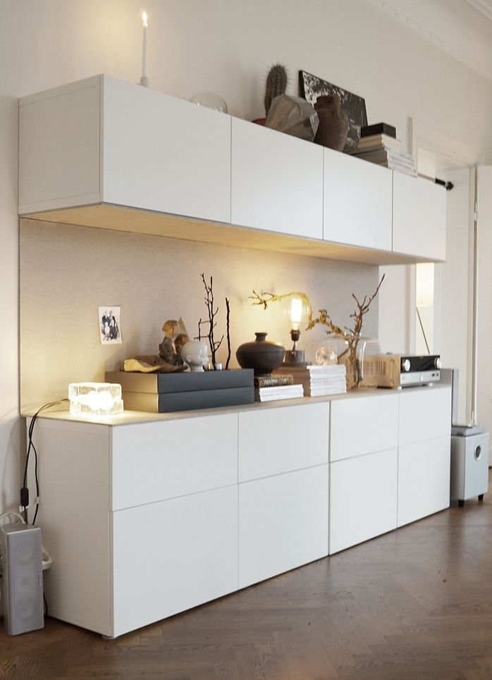 Could have fireplace in the middle Ways To Use Ikea Besta Units In ...