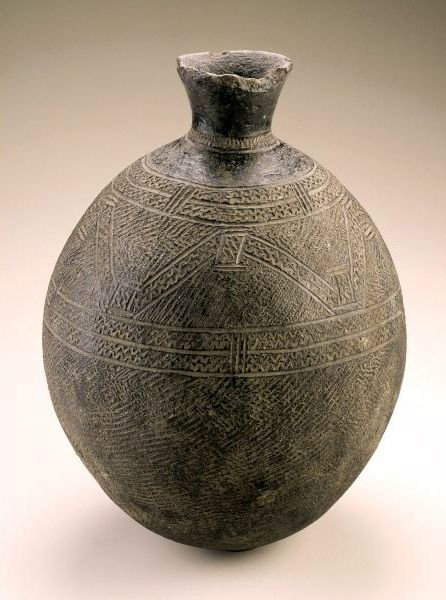 Africa | Vessel from Burkina Faso, possibly from the Tusyan people | Ceramic | Mid to late 20th century