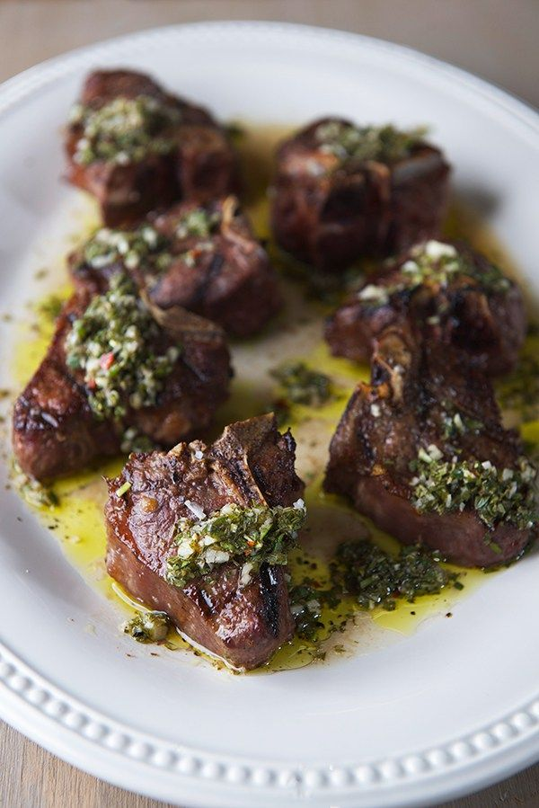 Grilled Lamb Chops with Herb Chimichuri - How to Recipe.