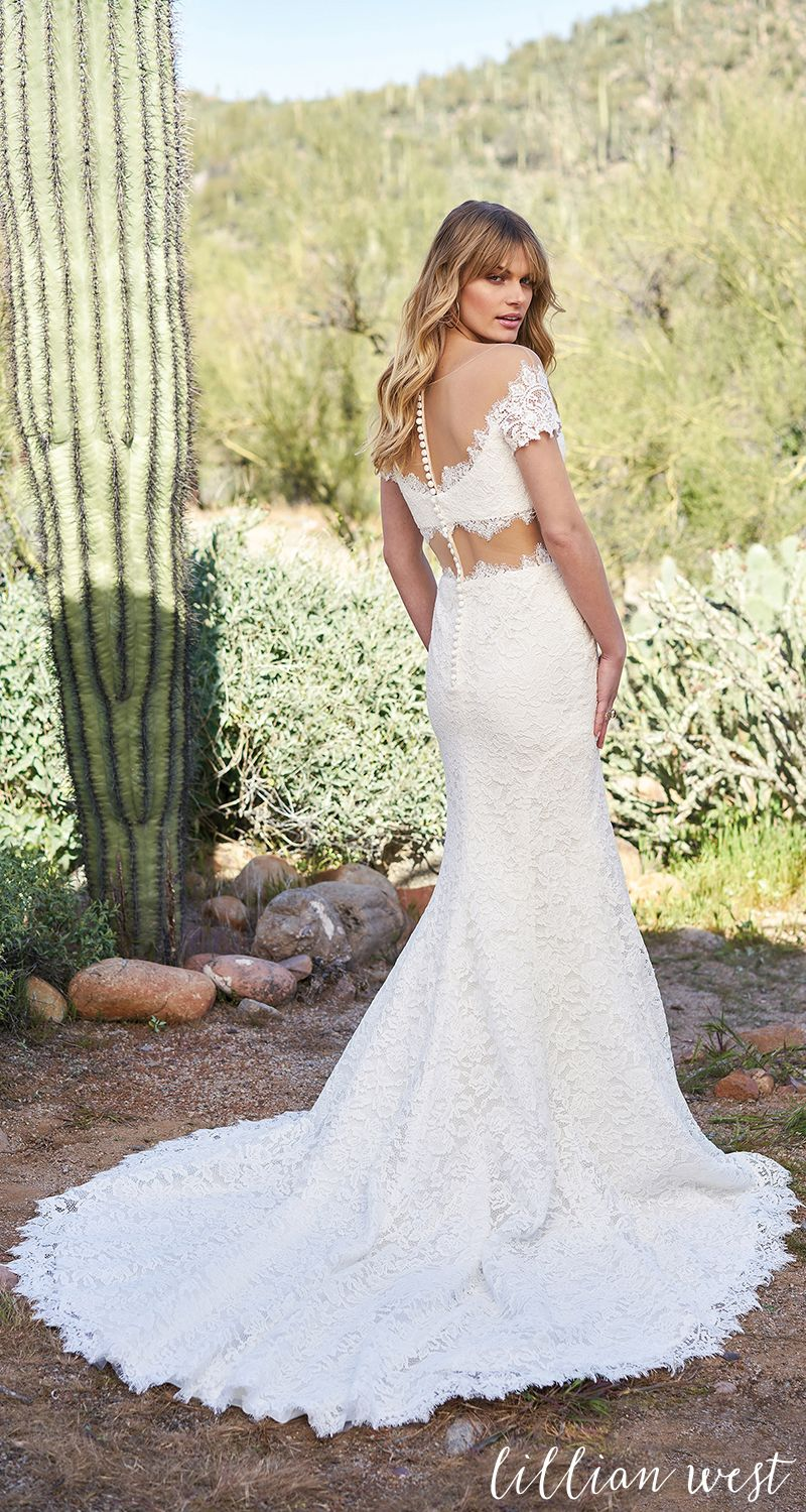 Style 6519 Corded Lace Crop Top And Skirt With Illusion Midriff Lillianwest Wedding Weddingdress Bridal Bridalgown Bohobride Bohowedding