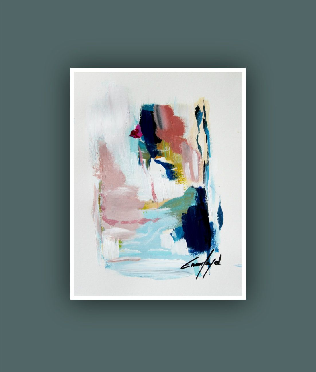 Abstract Painting Acrylic Painting On Heavy Weight Watercolor