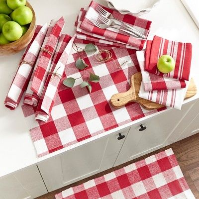 Farmhouse Living Stripe And Check Kitchen Towels Set Of 3 17 X