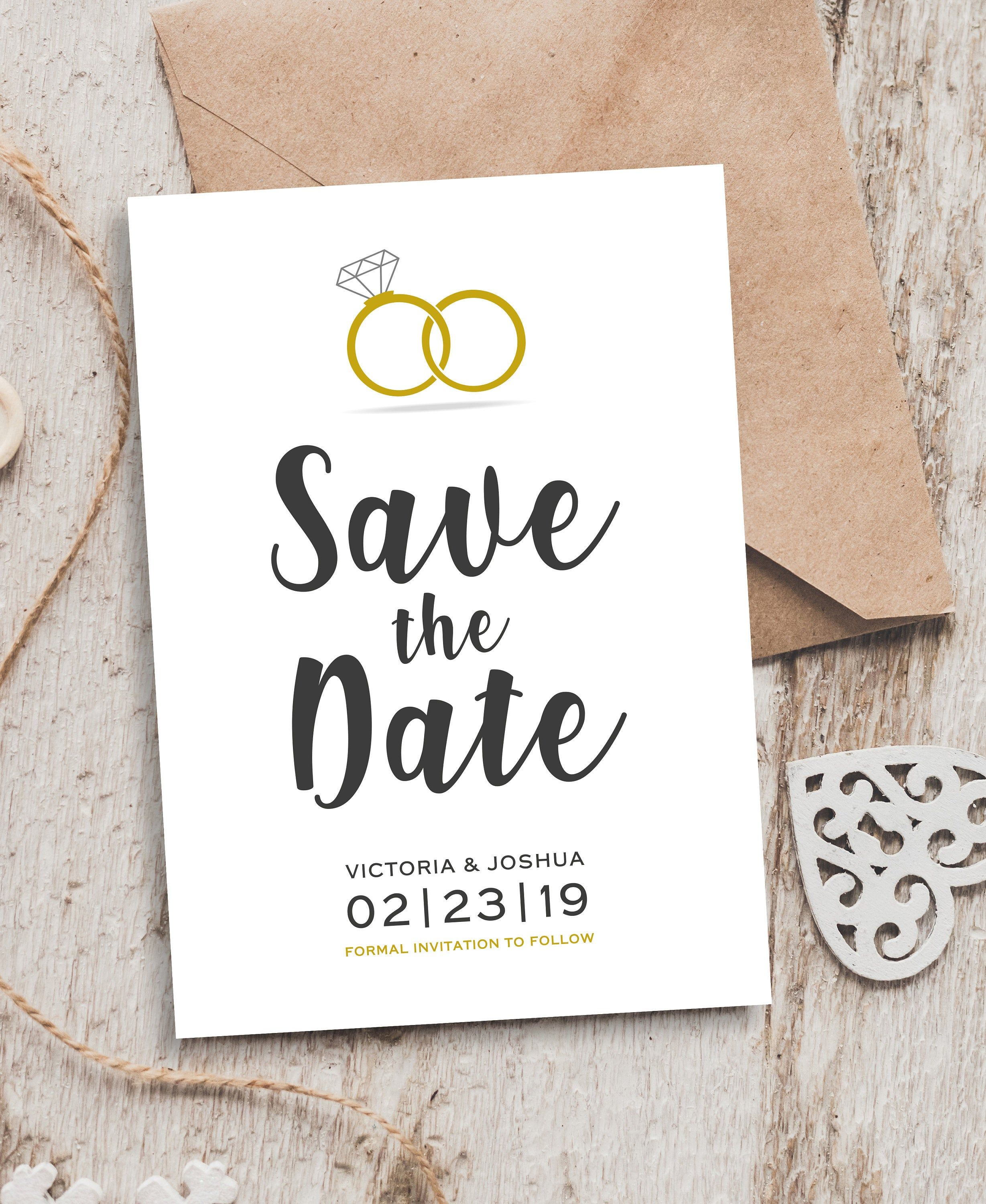 Cute Save The Date Cards, Save The Date Simple, Save The