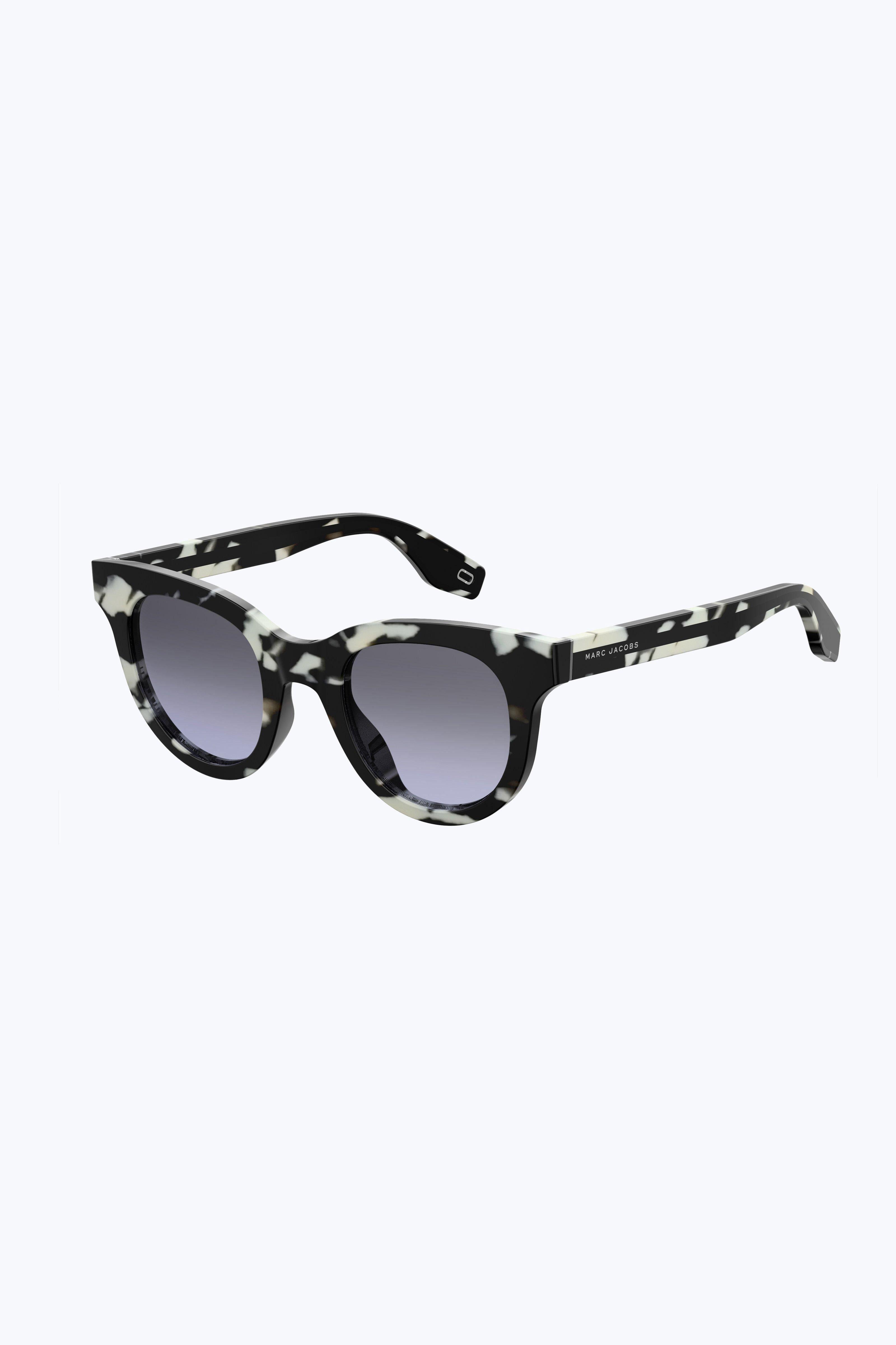 e1dc8e55e8 Marc Jacobs Iconic Stripes Round Cateye - Black Dark Grey 1Sz ...