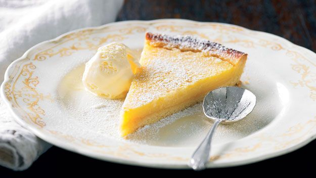 Any dessert with lemon in it gets my vote. The lime in this tart gives it that extra zing.