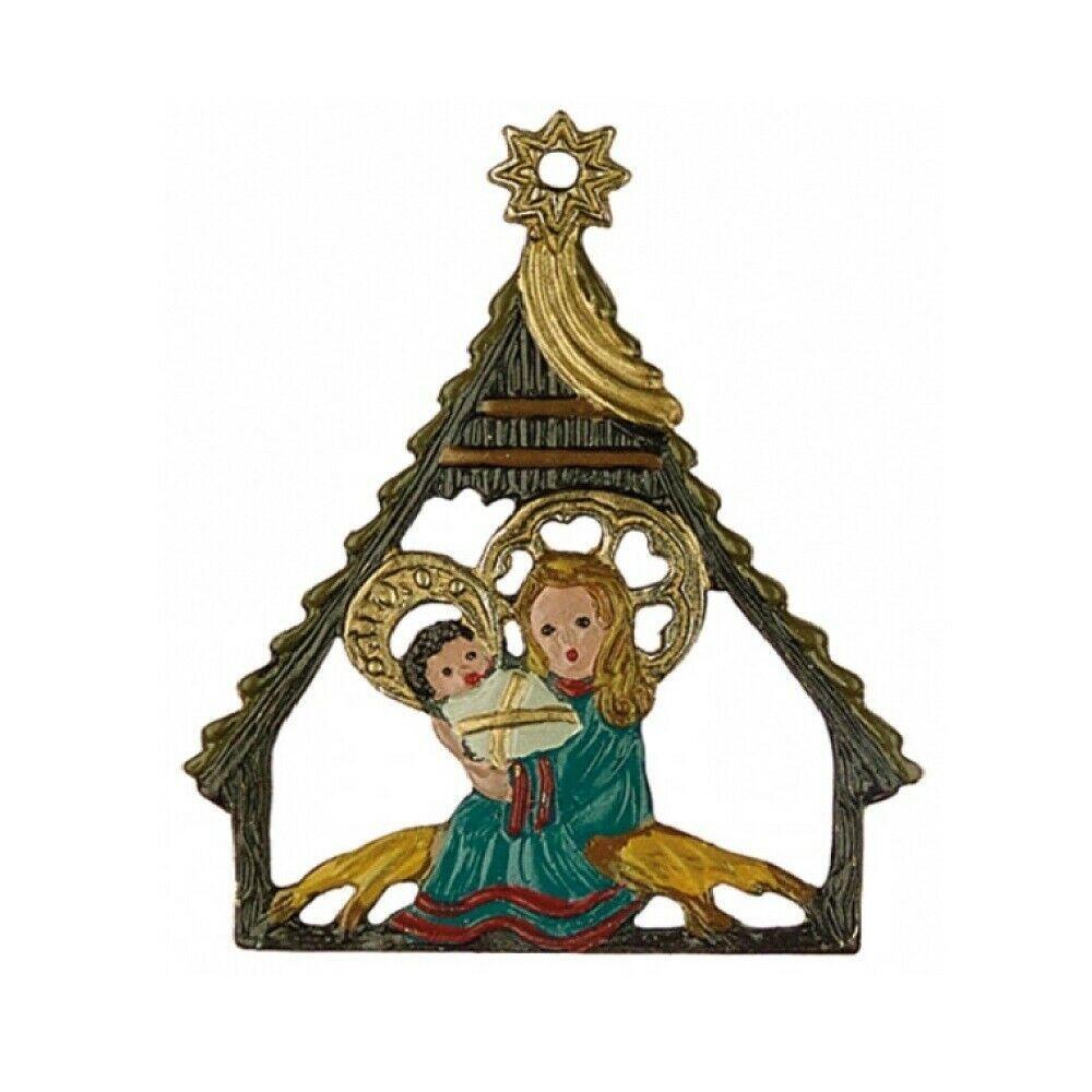 Nativity German Pewter Christmas Tree Ornament Decoration ...