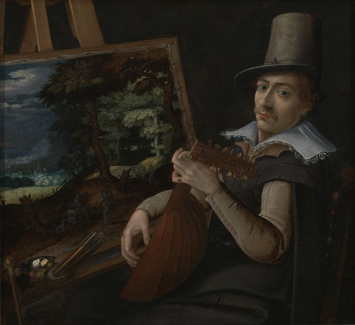 Self-Portrait Attributed to Paul Bril Netherlandish, ca. 1554-1626 Self-Portrait, ca. 1595-1600 Oil on canvas 39.046
