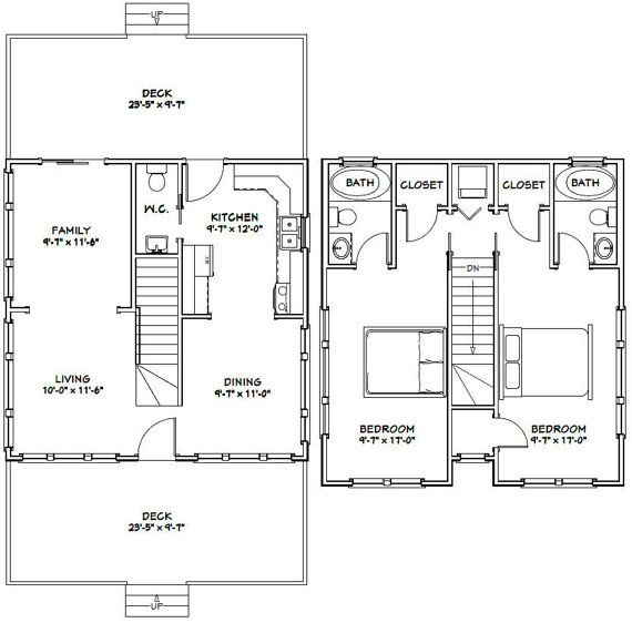 24x24 Homes 2-Bedroom 2.5-Bath 1143 Sq Ft By