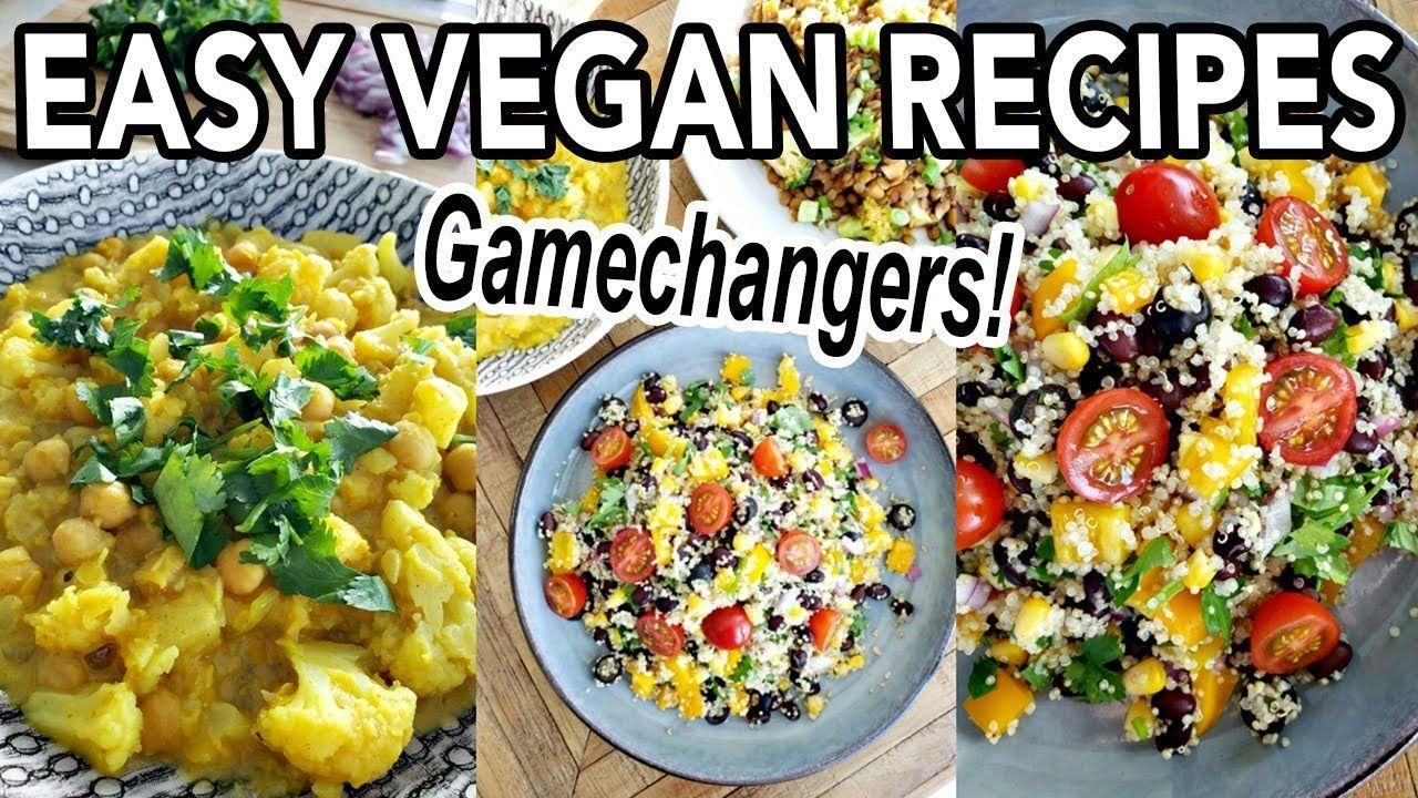 Easy Vegan Recipes For Beginners Whole Foods Plant Based Oil Free The Gamechangers Recipes In 2020 Vegan Recipes Easy Whole Food Recipes Vegan Recipes Beginner