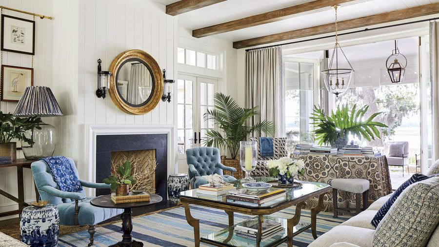 Tour The Ultimate Southern Dream House Southern Living Homes Southern Living Rooms Southern Living Idea House 2019