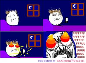 Rage Meme My Eyes Burn Rage Meme Rage Comics Funny Feeling