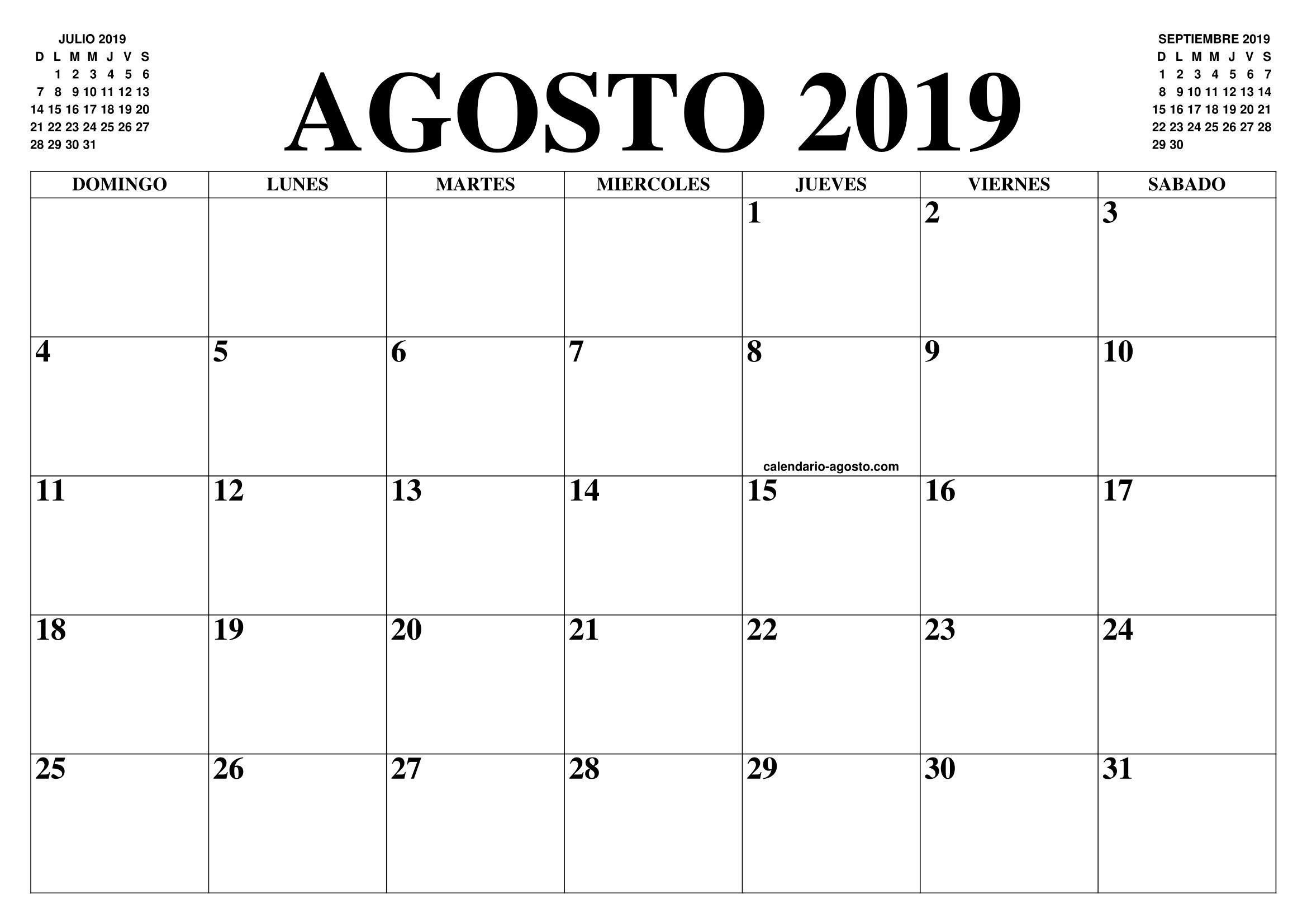 Calendario De Agosto 2019 Decorado.Resultado De Imagen Para Calendario 2019 Agosto 2019