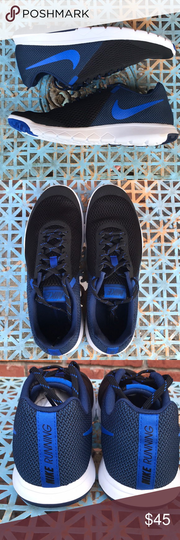 f0db766ae8c49 Nike Flex Experience RN 5 Mens 8.5 Black Cobalt Nike 844514 006 Flex  Experience Run 5 Black Cobalt Blue Size Mens 8.5 Nike Shoes Athletic Shoes