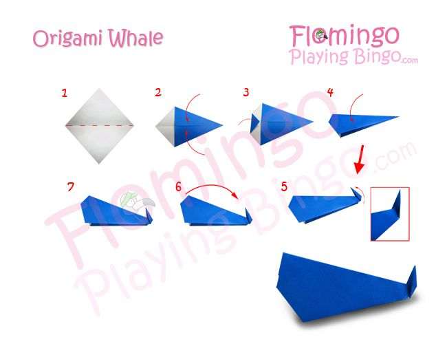 origami whale pattern summer art pinterest whale