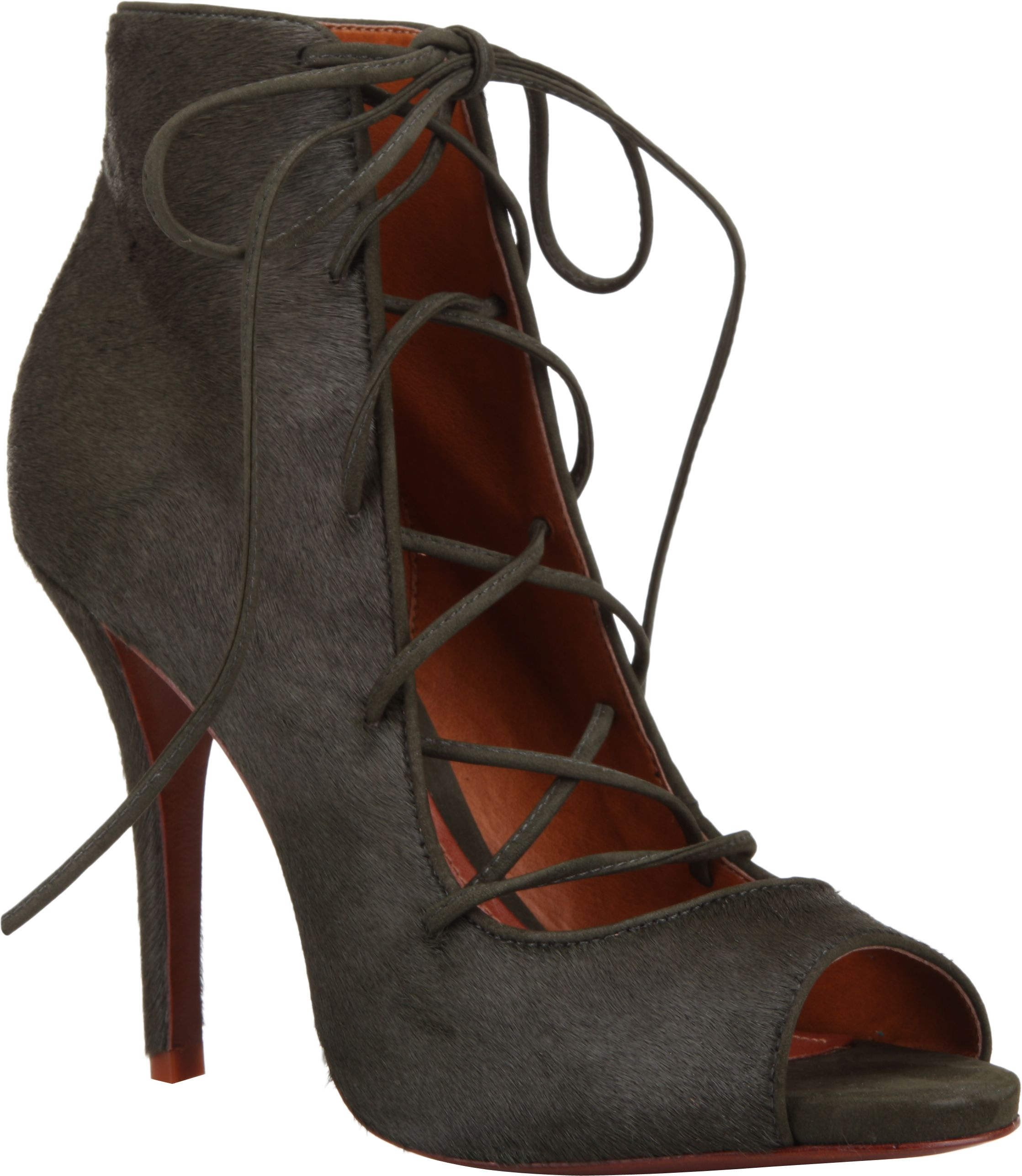 Military green, pony hair lace up booties and the endless wardrobe options