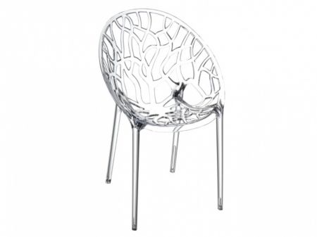 Crystal Clear Polycarbonate Dining Chair