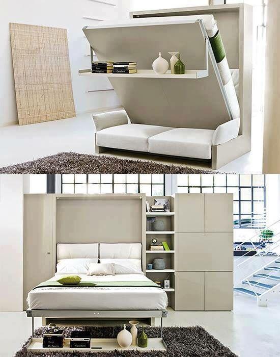 Sofa, Bett Platzsparende möbel, Zimmer gestalten, Möbel